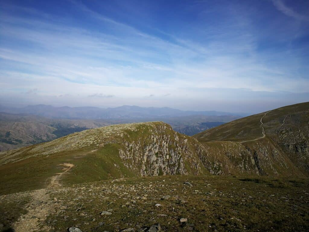 From Dollywaggon Pike, looking at the easy route to Nethermost Pike, not far to go