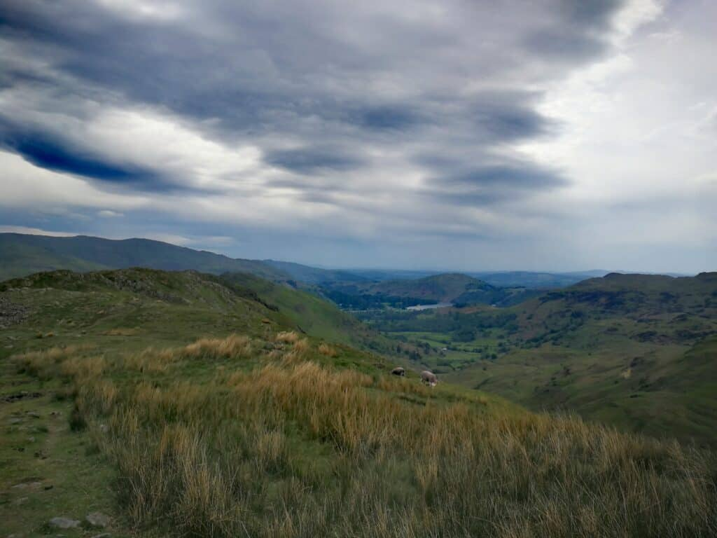 Going on the path of Pike of Carrs on towards Gibson Knott the Wainwright