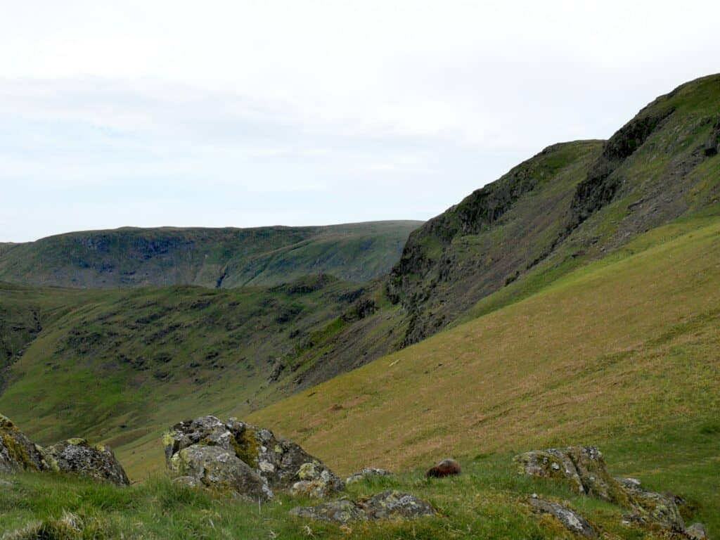 Green Burn Bottom, from Steel Fell to Calf Crag in the Lake District