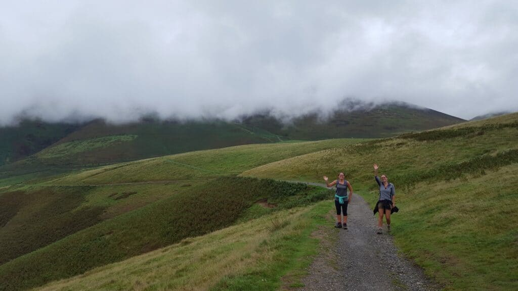 True Freedom Seekers coming back down from Latrigg in the Lake District near Keswick