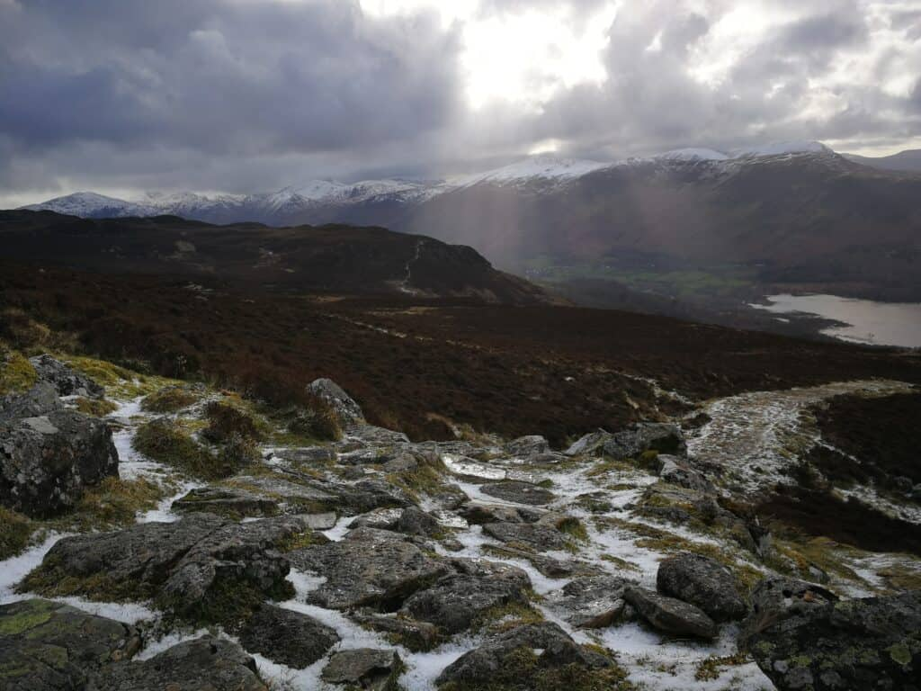 Last section of the walk up to Bleaberry Fell, before we head back to Walla Crag
