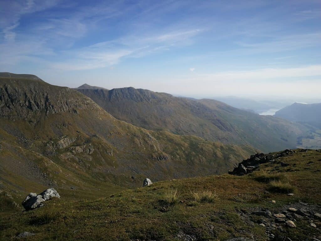 Looking onto Ullswater and the other Wainwrights