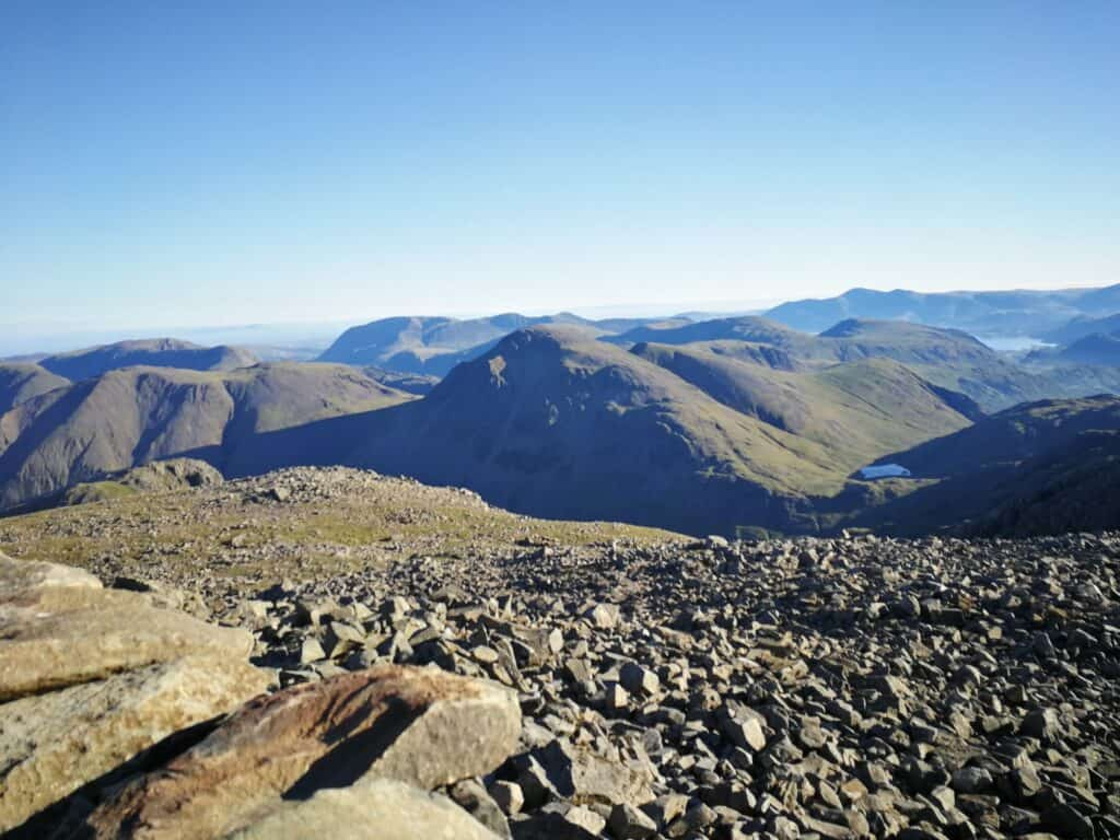 Looking over to Great Gable and Kirk Fell