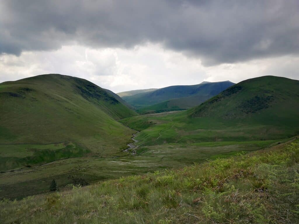 Making our way back to Mungrisdale village with the incredible views
