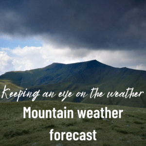 Mountain weather forecast in the Lake District