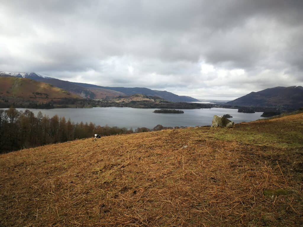 Our walk towards Walla Crag and Bleaberry Fell from Ashness Bridge. With views over Derwent Water