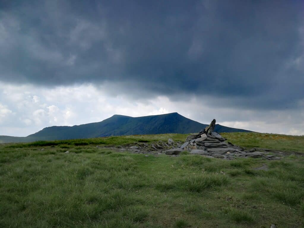 The summit of Bannerdale Crags and Blencathra in the background. Utterly memorising