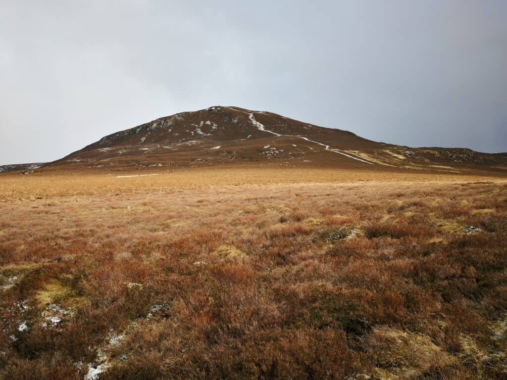 The summit of Bleaberry Fell showing a clear path to the top of this Wainwright