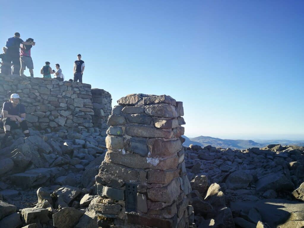 The summit trig as well as the summit cairn too