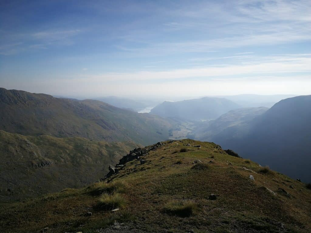 Views from Dollywaggon Pike looking towards Ullswater