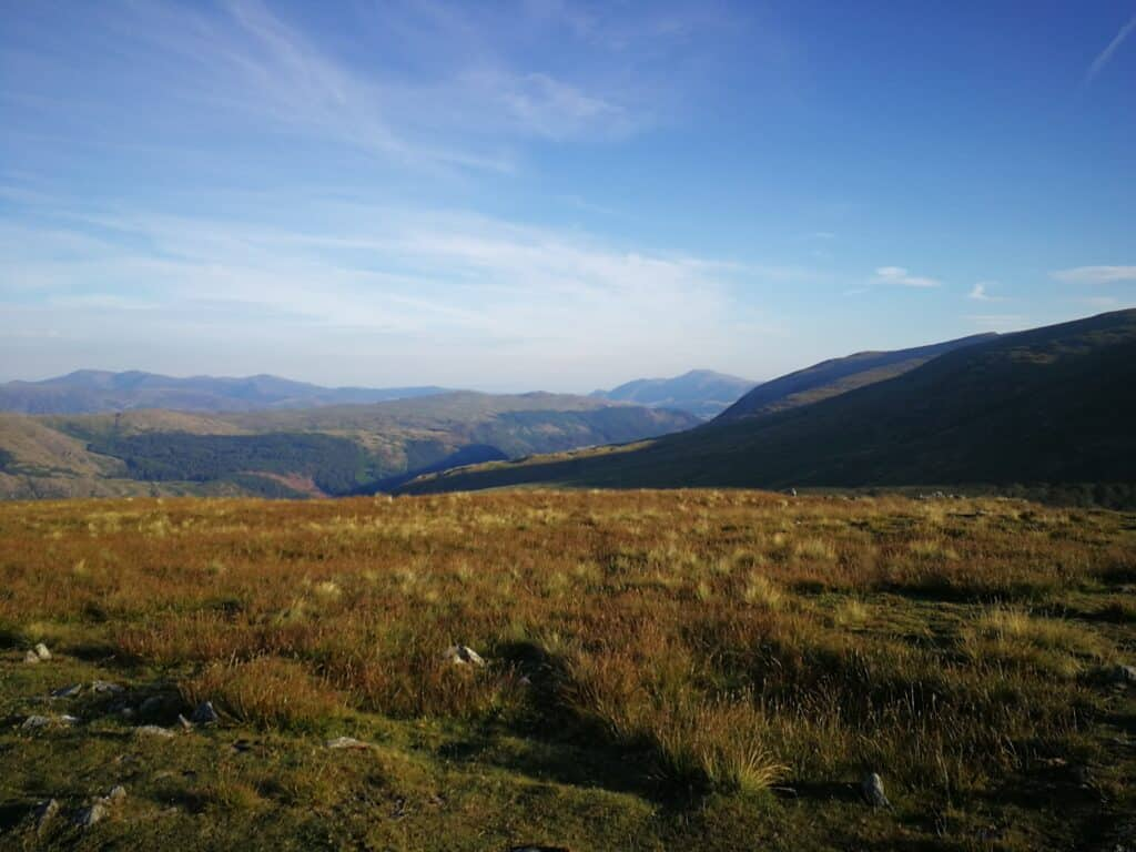 Views from Seat Sandal across the Lake District, beautiful