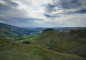 On our walk to what we can see is Helm Crag, the final Wainwright of the day, with Grasmere below