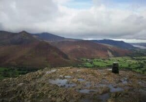 Overlooking Grisdale Pike from the summit