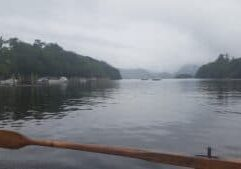 Rowing on Derwent water from Keswick