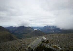 View from Great Gable the Wainwright summit