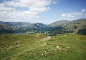 Views looking North from the peak of Loughrigg Fell on our walk from Grasmere